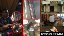 Сравнение элементов интерьера из поездки в Донецк Александра Франчетти и оригинальных фотографий из кафе «Сепар»