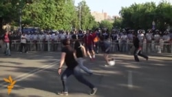 Yerevan Activists Play Amid The Protests