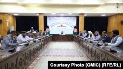 نشست مشترک وزارت حج و اوقاف، شورای علما و نماینده های کشورهای اسلامی و عربی در مورد صلح افغانستان