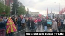 Протесты в Македонии против формирования правительства. Скопье, 4 апреля 2017 года.
