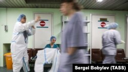 Госпиталь для лечения пациентов с коронавирусом в ГКБ №15 имени Филатова