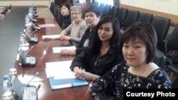 Представители инициативной группы дольщиков на приеме у акима Карагандинской области. Караганда, 3 марта 2020 года.
