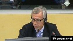 Reynaud Theunens svjedoči na suđenju Ratku Mladiću u Hagu, 3. prosinac 2013.