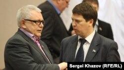 Член Совета Федерации Константин Титов и депутат Самарской губернской Думы Михаил Матвеев. Фото Сергея Хазова