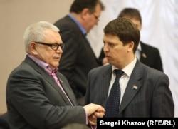 Cенатор Совета Федерации от Самарской области Константин Титов и депутат Самарской Губернской Думы Михаил Матвеев