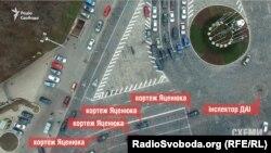 Кортеж Яценюка на Европейской площади
