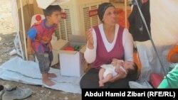 لاجئون سوريون في مخيم كوروكوسك بأربيل