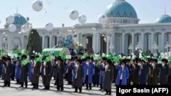 Празднование 27 годовщины независимости Туркменистана, Ашхабад, 27 сентября 2018