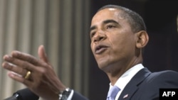 U.S. President Barack Obama discusses the financial crisis on Wall Street.