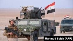 Forcat irakiane për intervenim të shpejt, marrin pjesë në një operacion kundër miltiantëve të IS-it. 7 shkurt, 2018
