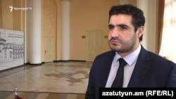 Прэс-сакратар выканаўцы абавязкаў прэм'ер-міністра Армэніі Нікола Пашыньяна Арман Егаян
