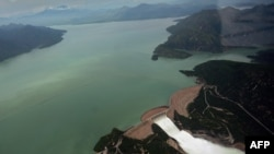 This aerial view of the massive Tarbela dam in northwestern Pakistan. (file photo)