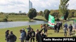 Чеченцы празднуют независимость Ичкерии в Австрии (архивное фото)