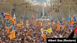 La demonstrațiile de duminică de la Barcelona