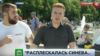 Никита Развозжаев во время прямого эфира НТВ 2 августа 2017 года