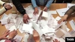 Під час підрахунку голосів на одній з виборчих дільниць у Євпаторії