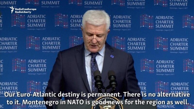 Prime Ministers Of Montenegro, Macedonia Speak On NATO, Regional Cooperation