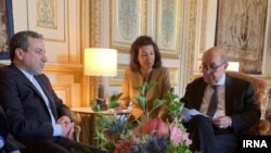 File - Abbas Araqchi meeting with French Foreign Minister Jean-Yves Le Drian on Tuesday July 23