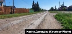Дорога в деревне Верхний Карбуш