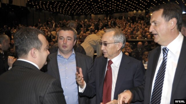 Miroslav Mišković sa Ivicom Dačićem i Dušanom Bajatovićem, foto: Vesna Anđić