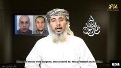 «Al-Kaýdanyň» Ýemendäki bölüminiň baş komandiri Nasr al-Ansi internetde goýlan wideoda ol hüjümçilere žurnala hüjüm etmegiň tabşyrylandygyny aýdýar.