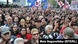 Mitingul MIşcării lui Saakaşvili, Tbilisi, 19 aprilie 2013