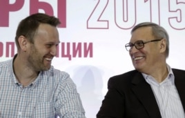 Алексей Навальный и Михаил Касьянов. Апрель 2015 года