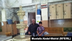 البهو الداخلي لحمام فهد في كربلاء