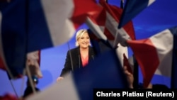 Marine Le Pen, French National Front (FN) political party candidate for French 2017 presidential election