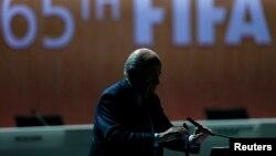 Ёзаф Блатэр на 65-м кангрэсе ФІФА