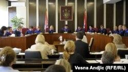 Jedna od sednica Ustavnog suda Srbije - iz arhive