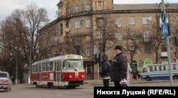 Современный дружковский трамвай