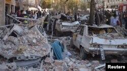На місці вибуху в Діябакирі, 4 листопада 2016 року