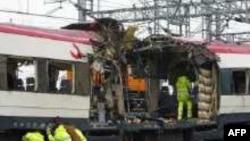 یکی از قطارهای منفجر شده در زمان حمله تروریستی به مادرید که سه سال پیش انجام شد.