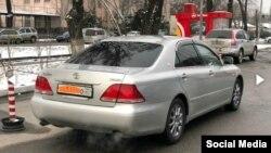 Toyota Crown с абхазскими номерами в Бишкеке.