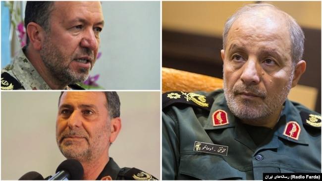 "The commander of IRGC's regional HQ in the Northwest of Iran ""Hamzeh"", Mohammad Taghi Osanlou and his provincial commanders Sadegh Hosseini (Kurdestan), and Habib Shahsavari (West Azarbaijan)"