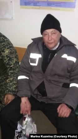 Заключенный колонии общего режима в поселке Заречный Алматинской области Василий Кузьмин в областной многопрофильной клинике близ Алматы. Снимок сделан его сестрой Мариной Кузьминой 20 марта 2019 года.