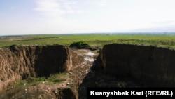 Сақ қорғанының тазартылғаннан кейінгі көрінісі. Алматы, 27 сәуір 2019 жыл.