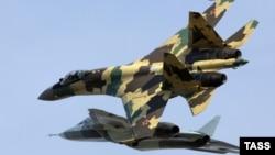 Ресейдің Су-35 жойғыш ұшақтары.