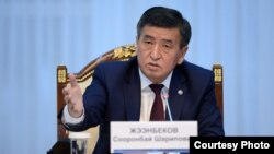 Қырғызстан президенті Сооронбай Жээнбеков.