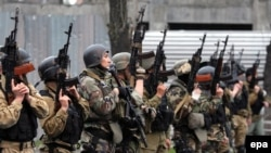 پلیس در بیشکک پایتخت قرقزیستان