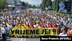 Jedan od antivladinih protesta u Podgorici