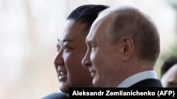 Встреча президента России Владимира Путина и лидера Северной Кореи Ким Чен Ына. 25 апреля 2019 года.