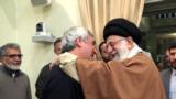 ابراهیم حاتمیکیا در آغوش آیتالله خامنهای در یکی از دیدارهای بسته سینماگران با رهبر جمهوری اسلامی