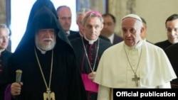 Roma Papası Aramla Cilicia Böyük Katolik Kilsəsində, 05 iyun 2014