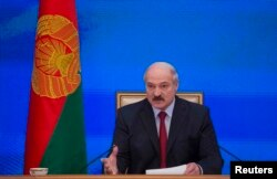 Александр Лукашенко на пресс-конференции 29 января