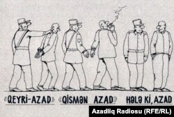 Azerbaijan -- Rashid Sherif's cartoon (freedom index)