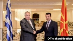 Nikos Kocijas i premijer Makedonije Zoran Zaev