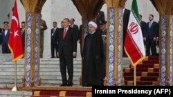 رؤسای جمهوری ایران و ترکیه در تهران. ۱۲ مهر ۱۳۹۶