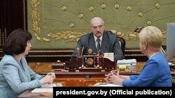 Аляксандар Лукашэнка, Натальля Качанава і Лідзія Ярмошы, 30 ліпеня 2019